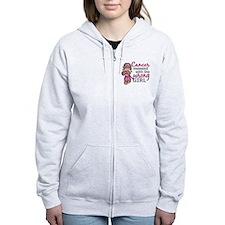 Combat Girl Breast Cancer Zip Hoodie