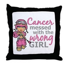 Combat Girl Breast Cancer Throw Pillow
