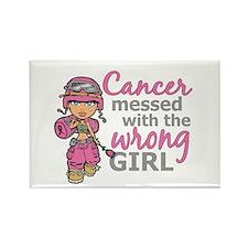 Combat Girl Breast Cancer Rectangle Magnet