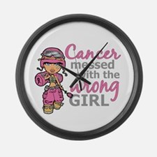 Combat Girl Breast Cancer Large Wall Clock