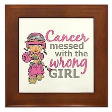 Combat Girl Breast Cancer Framed Tile