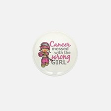 Combat Girl Breast Cancer Mini Button (10 pack)