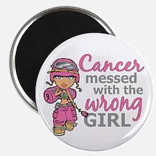 "Combat Girl Breast Cancer 2.25"" Magnet (100 pack)"