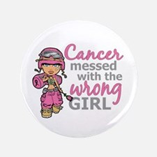 "Combat Girl Breast Cancer 3.5"" Button (100 pack)"