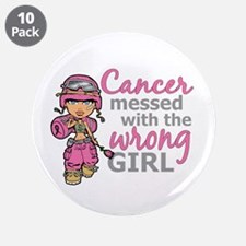 "Combat Girl Breast Cancer 3.5"" Button (10 pack)"