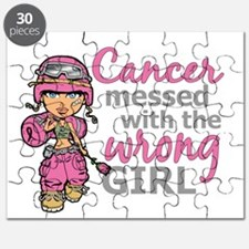 Combat Girl Breast Cancer Puzzle