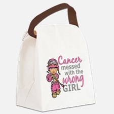 Combat Girl Breast Cancer Canvas Lunch Bag