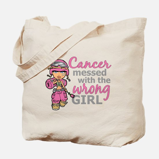 Combat Girl Breast Cancer Tote Bag
