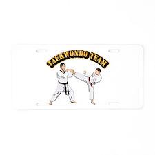 Taekwondo Team Aluminum License Plate