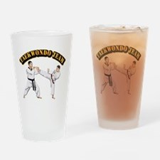 Taekwondo Team Drinking Glass