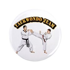 "Taekwondo Team 3.5"" Button"