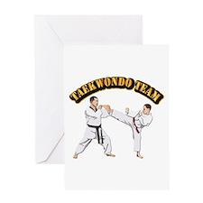 Taekwondo Team Greeting Card