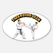 Taekwondo Team Sticker (Oval)