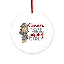 Combat Girl Brain Cancer Ornament (Round)