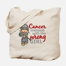 Combat Girl Brain Cancer Tote Bag