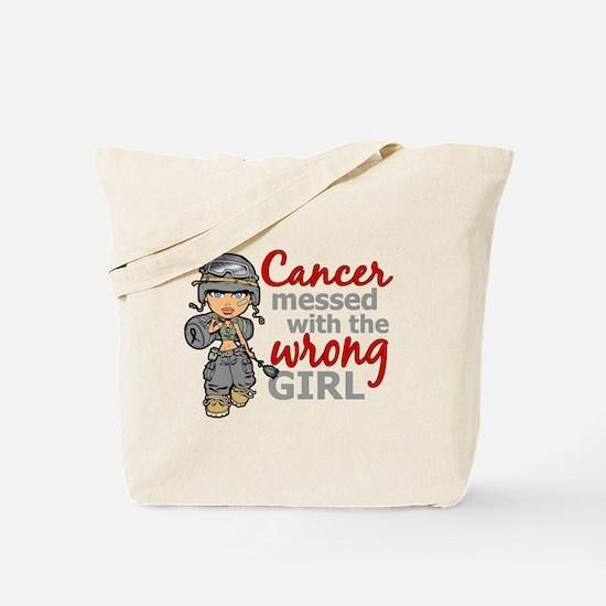Combat Girl Brain Cancer Tote Bag