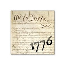 "We The People 1776 Design Square Sticker 3"" x 3"""