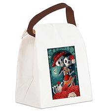 Dia de Los Muertos Mexican Lovers Canvas Lunch Bag