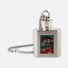Dia de Los Muertos Mexican Lovers Flask Necklace