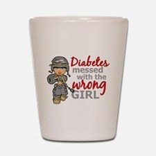 Combat Girl Diabetes Shot Glass