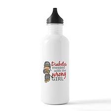Combat Girl Diabetes Water Bottle