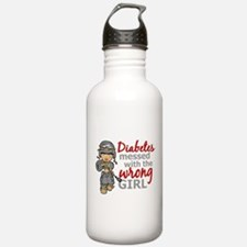 Combat Girl Diabetes Water Bottle