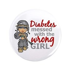 "Combat Girl Diabetes 3.5"" Button"