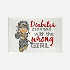 Combat Girl Diabetes Rectangle Magnet