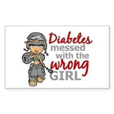 Combat Girl Diabetes Bumper Stickers