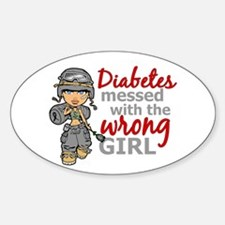 Combat Girl Diabetes Decal