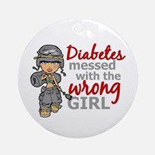 Combat Girl Diabetes Ornament (Round)