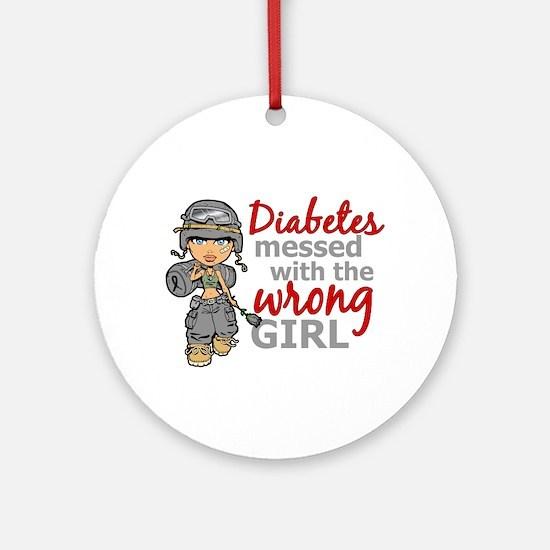 Combat Girl Diabetes Ornament (Round)
