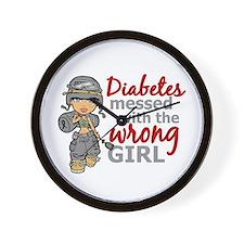 Combat Girl Diabetes Wall Clock