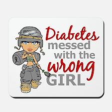 Combat Girl Diabetes Mousepad
