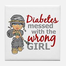 Combat Girl Diabetes Tile Coaster
