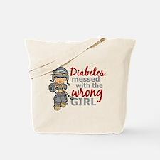 Combat Girl Diabetes Tote Bag