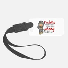 Combat Girl Diabetes Luggage Tag