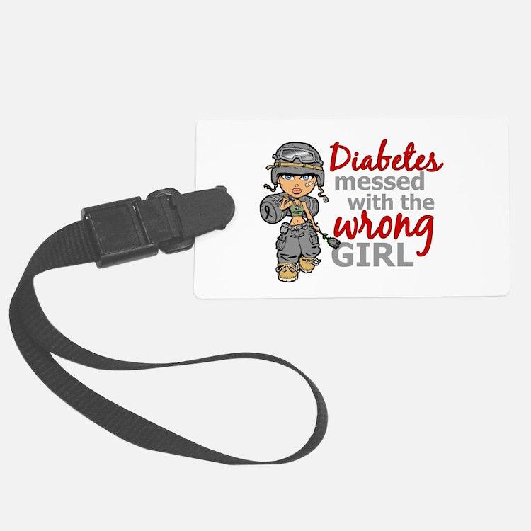 Combat Girl Diabetes Luggage Tag