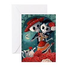 Dia de Los Muertos Mexican Lovers Greeting Cards