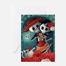 Dia de Los Muertos Mexican Lovers Greeting Cards