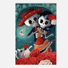 Dia de Los Muertos Mexican Lovers Postcards (Packa