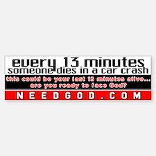 every 13 minutes Bumper Car Car Sticker