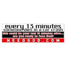 every 13 minutes Bumper Car Sticker