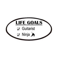 Guitarist Ninja Life Goals Patches