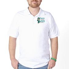 Combat Girl Ovarian Cancer T-Shirt