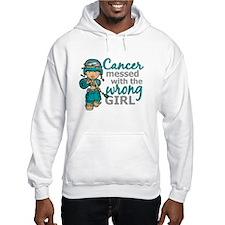 Combat Girl Ovarian Cancer Jumper Hoody