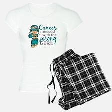Combat Girl Ovarian Cancer Pajamas