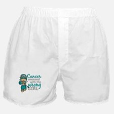 Combat Girl Ovarian Cancer Boxer Shorts