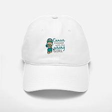 Combat Girl Ovarian Cancer Baseball Baseball Cap