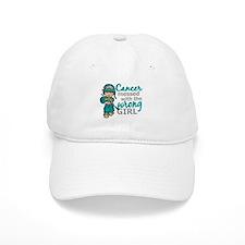 Combat Girl Ovarian Cancer Baseball Cap